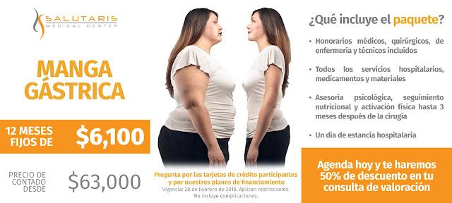 Paquete Manga Gastrica Obesidad Sobrepeso Precio Guadalajara Mexico