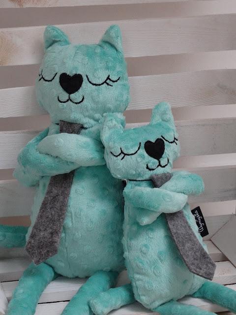 przytulanka do spania kot mięta 1