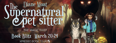 Excerpt, Giveaway, The Supernatural Pet Sitter, Diane Moat, Bea's Book Nook