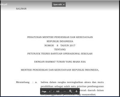 GAJI GURU HONORER SEKOLAH DIAMBIL DARI DANA BOS SESUAI PERMENDIKBUD RI NOMOR 8 TAHUN 2017 SEO SUNDA