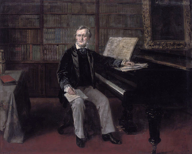 Rudolf Eichstaedt, Richard Wagner am Flügel (posterior a 1871)