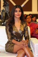 Pooja Hegde looks glamarous in deep neck sleevless short tight golden gown at Duvvada Jagannadham thank you meet function 121.JPG
