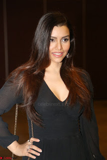 Kyra Dutta in black At Rogue Movie Audio Launch ~  044.JPG