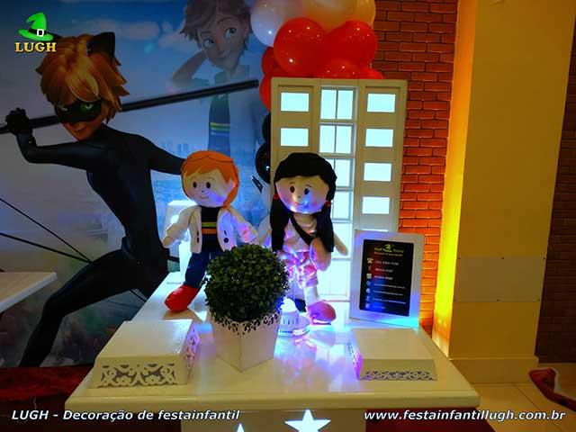 Ornamentação infantil Miraculous - tema Ladybug - Cat Noir - Decoração de festa infantil