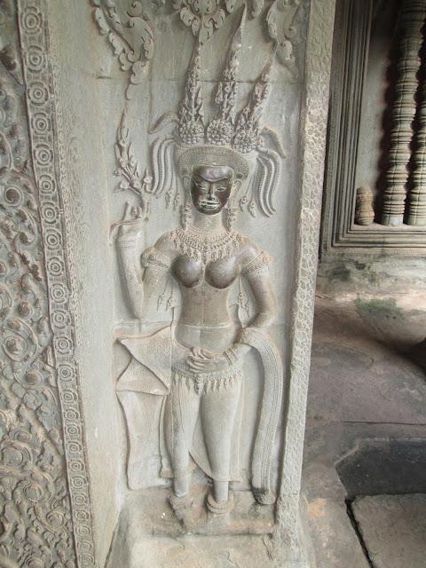 Aspara en Angkor Wat, Camboya