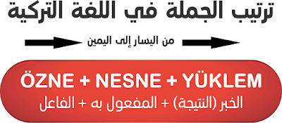 ترتيب الجملة في اللغة التركية