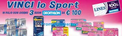 Logo Con Lines vinci 57 buoni Decathlon da 100 euro