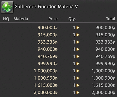 FFXIV Gil Farmer: Gambling With Materia - a Guide to Profit and