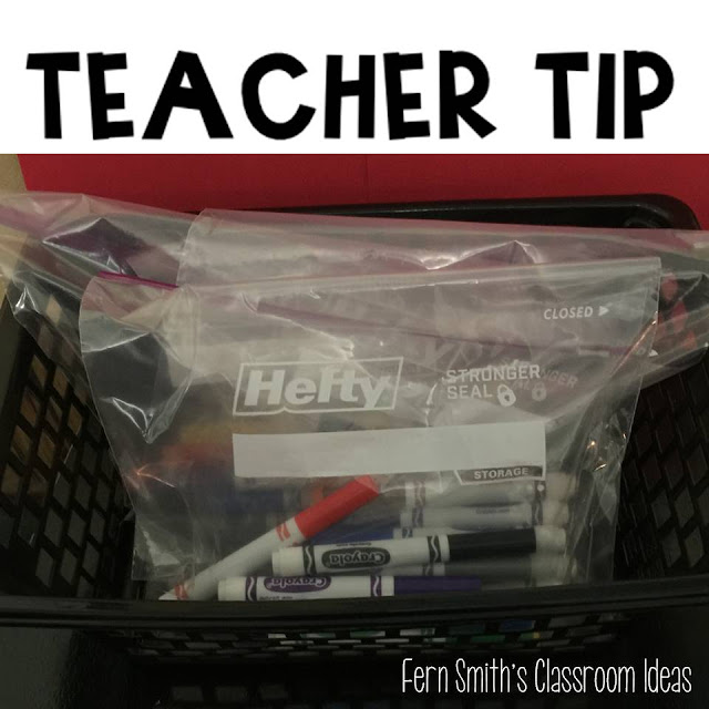 Marker Tip Organization for Your Classroom and a Freebie! Fern Smith's Classroom Ideas