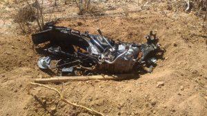 Moto é encontrada destruída na Zona Rural de Nova Floresta