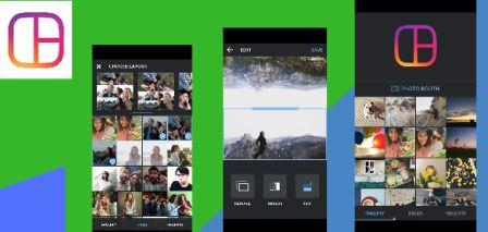 aplikasi edit foto dengan Layout from instagram
