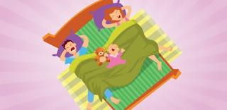 Texto lindo sobre crianças que dormem na cama dos pais