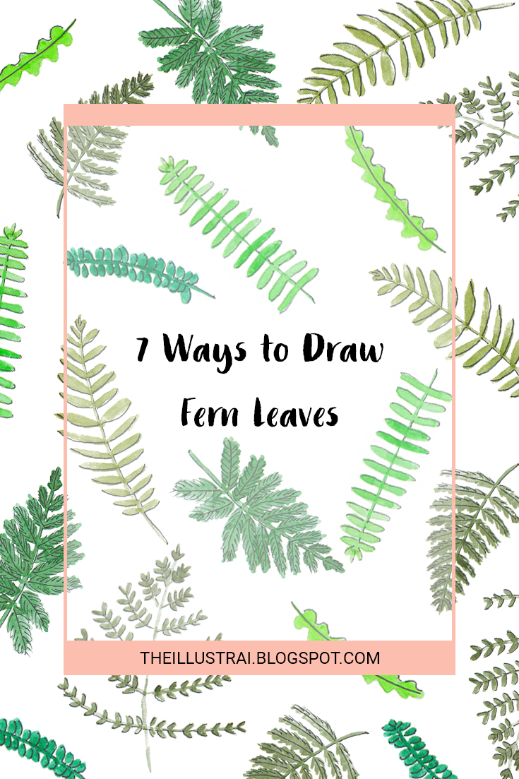 In this tutorial, I show you how to draw seven different types of fern leaves