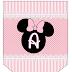 Alfabeto en Banderines de Minnie Rosa.