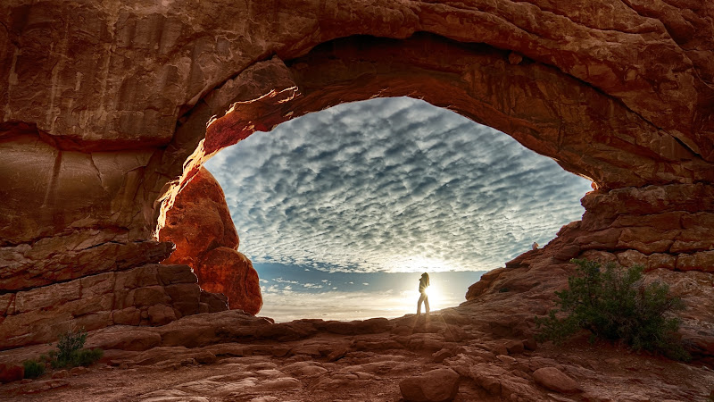 Window Arch at Arches National Park