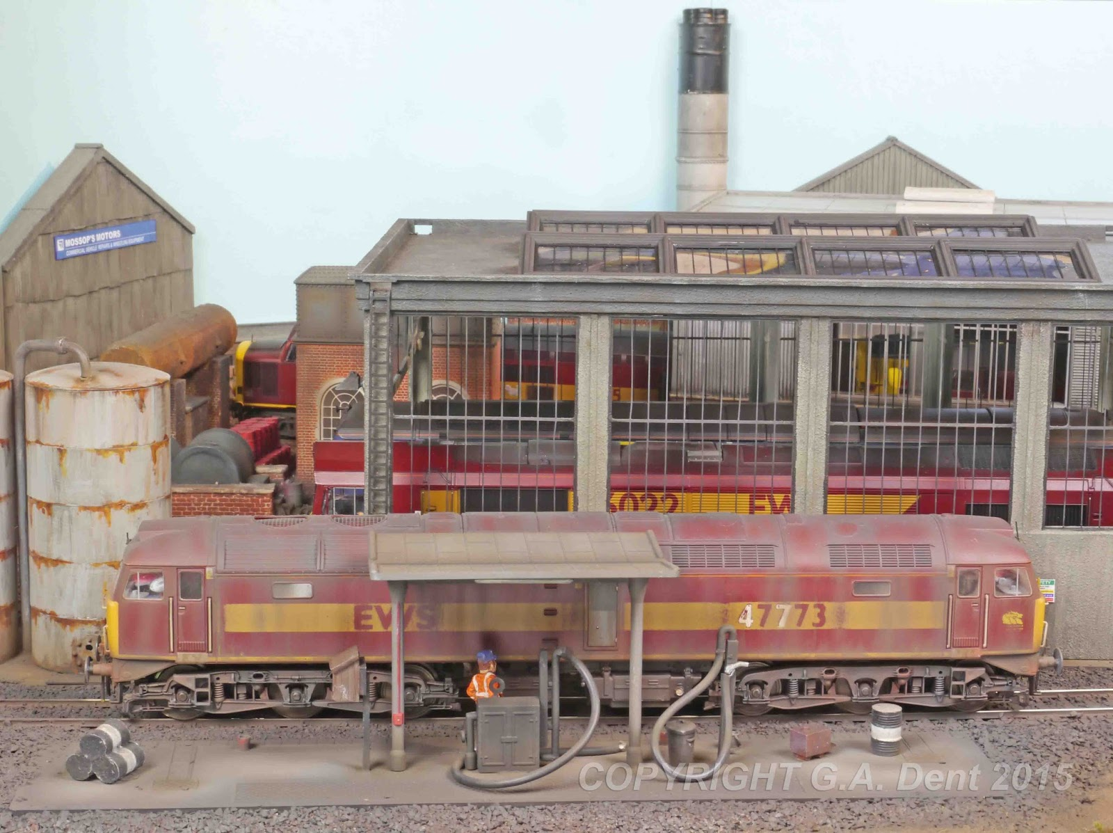 George Dent Model Maker Diesel Depot Track Plan