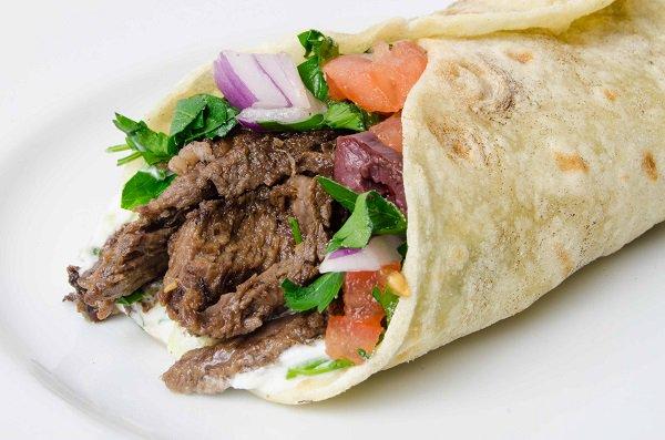 شاورما لحم بالبيت