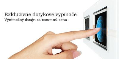 Dotykový vypínač so skleným rámikom