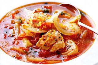 Филе рыбы с томатом и специями