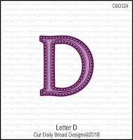 ODBD Custom Letter D Die
