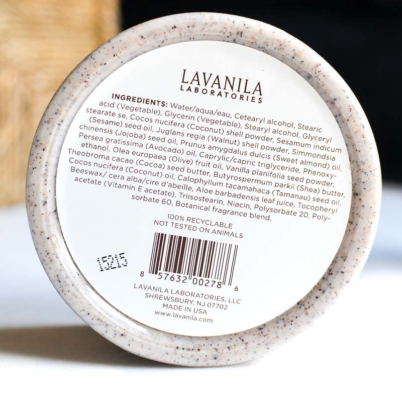 Lavanila Vanilla Bean Creamy Body Scrub - Ingredients