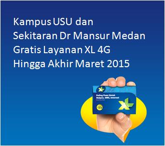 Gratis 4G XL Dr Mansur Kampus USU