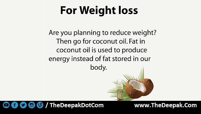 2 COCONUT OIL used for Weight loss