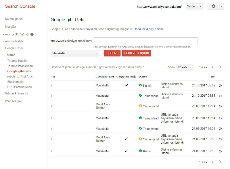Sitenizin Google tarafindan hızlı indexlenmesini sağlamak