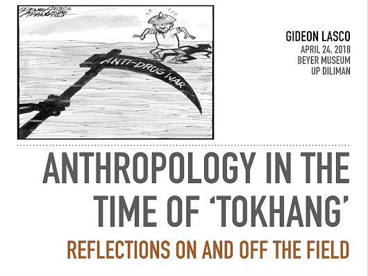 [Talk] H. Otley Beyer Museum Talk: Anthropology in the time of 'tokhang'