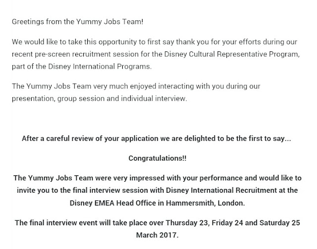 Disney Cover Letter The Application