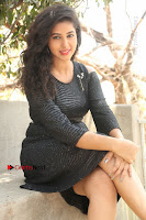 Telugu Actress Pavani Latest Pos in Black Short Dress at Smile Pictures Production No 1 Movie Opening  0165.JPG