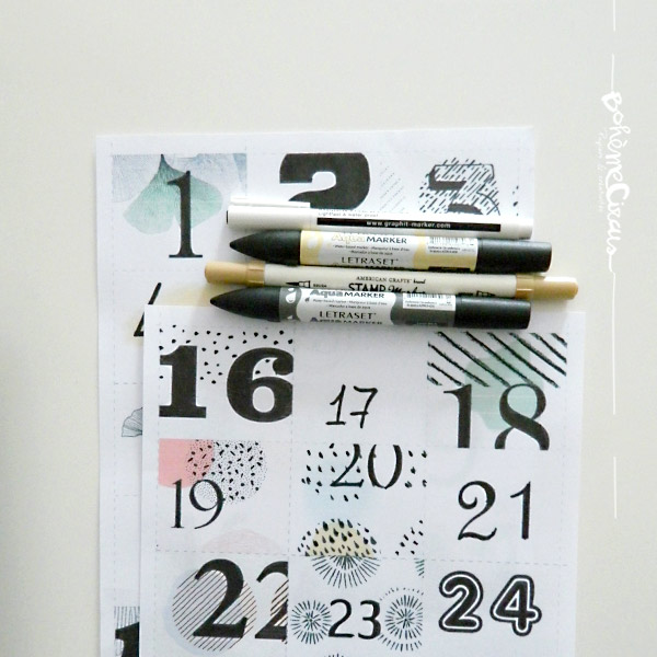 advent calendar - boheme circus - calendrier de l'avent