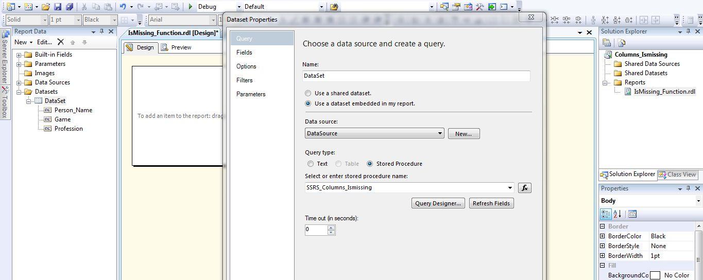 All about SQLServer: SSRS - IsMissing - Visibility Function