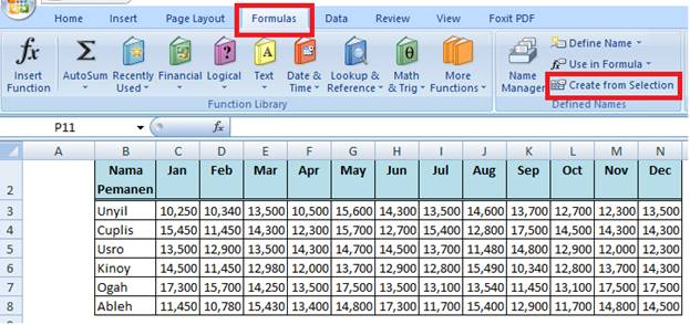 Create From Selection Excel 2007 ,2010 ,2013 ,2016