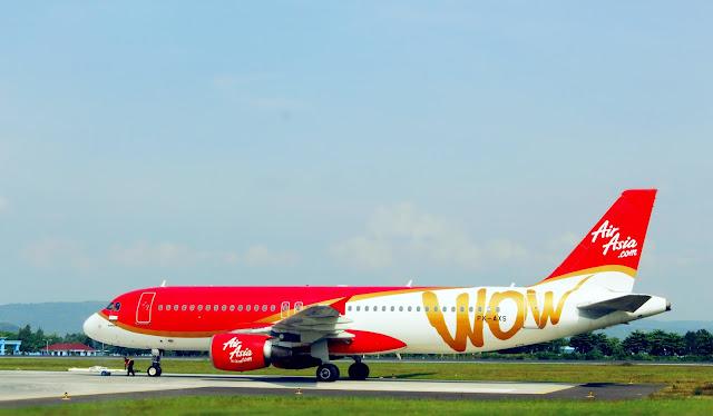 Foto Pesawat di Landscape Bandara Adisucipto Yogyakarta