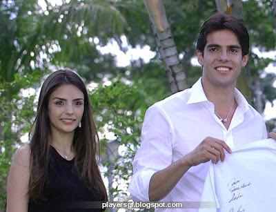 Kaka and His girlfriend Caroline Celico