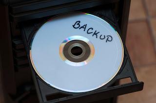Backup disk in drive