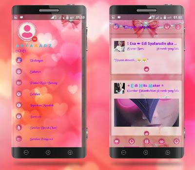 BBM MOD Droid Chat Meong Pussy v3.1.0.13 APK Terbaru Transparan Theme