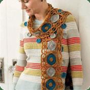 Bufanda de carpetitas a Crochet