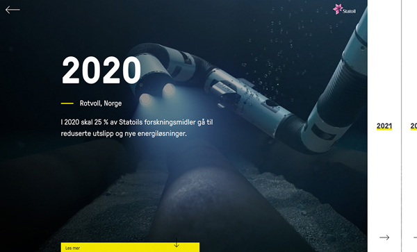 Trend and Inspiration Web Design 2018 - 2030.statoil