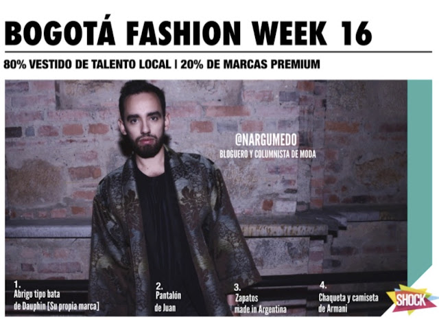 Revista Shock Bogota Fashion Week 2016