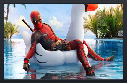 Deadpool 2 Relax Piscine - Fond d'écran en Full HD