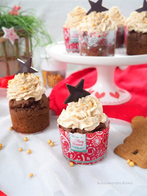 muffiny czekoladowe z kremem
