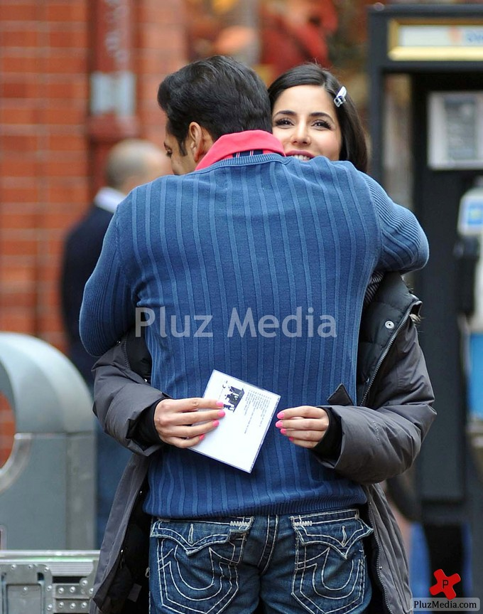 Only-Katrina Salman Khan Hugs Katrina Kaif During A Break In Filming Scenes On Ek Tha Tiger-3377