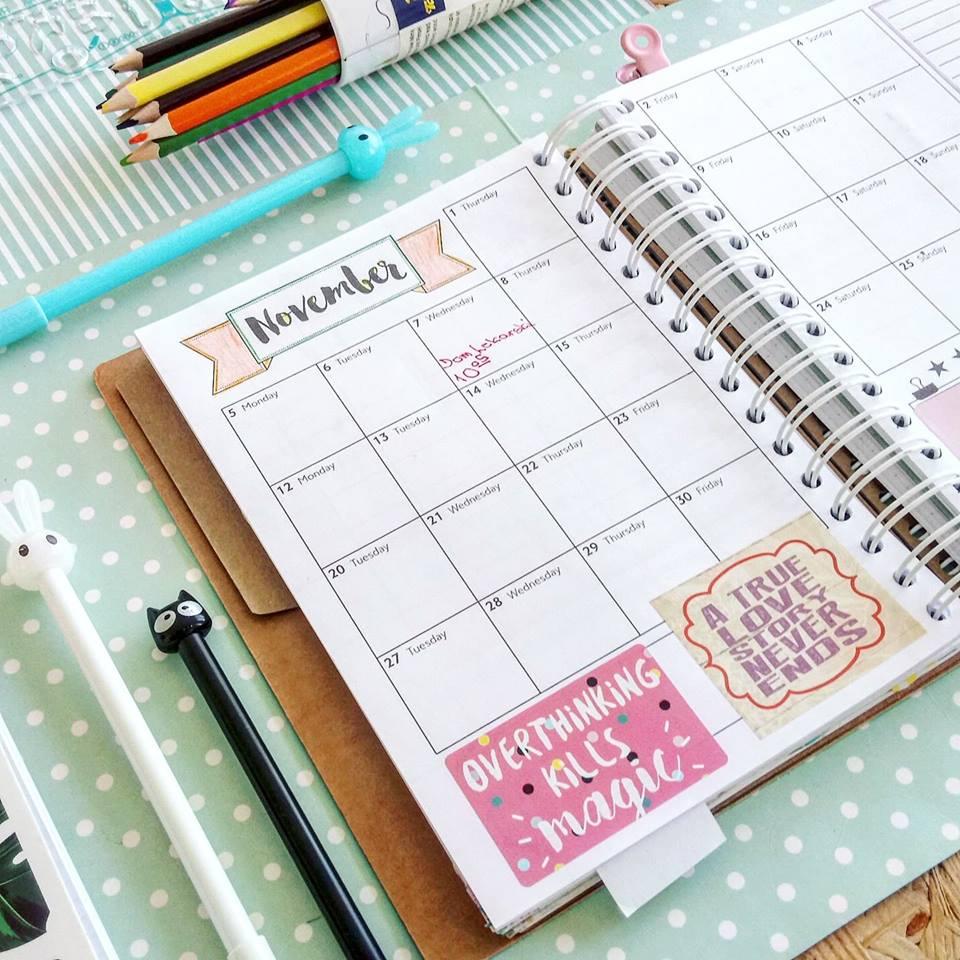 weekly planner, kolorowy planer, planowanie