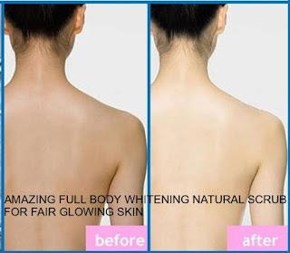 AMAZING FULL BODY WHITENING NATURAL SCRUB FOR FAIR GLOWING SKIN