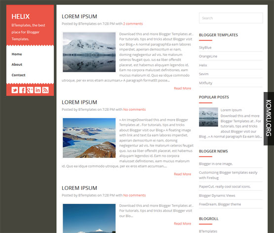 Helix Blogger template