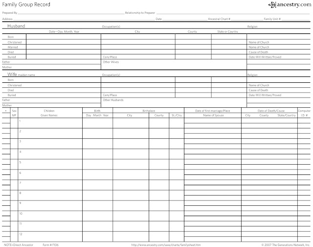 family group record template free family group record from teach me
