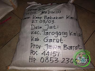 Packing benih padi pesanan  DIKDIK SADIKIN Garut, Jabar
