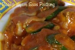 Resep Ayam Saos Padang yang lembut dan disukai anak anak